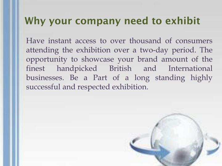 Why your company need to exhibit