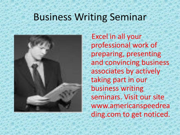 Business Writing Seminar