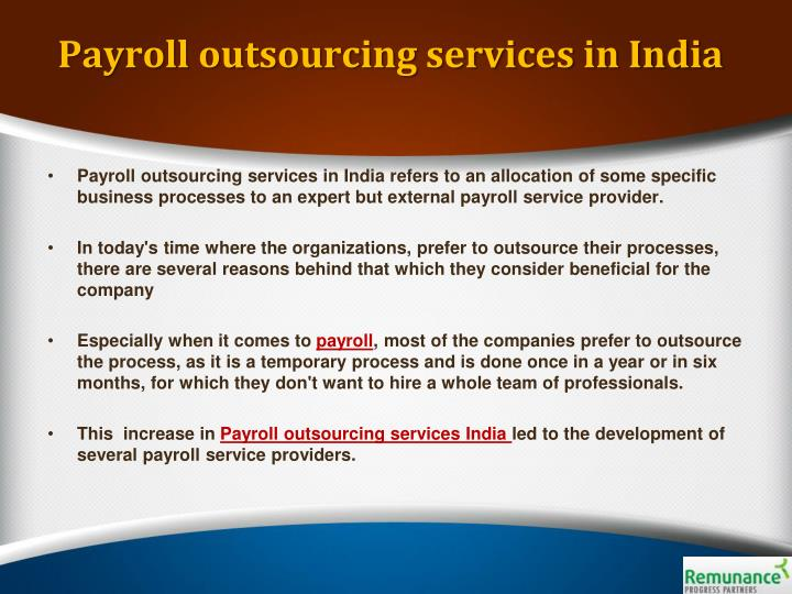Payroll outsourcing services in india