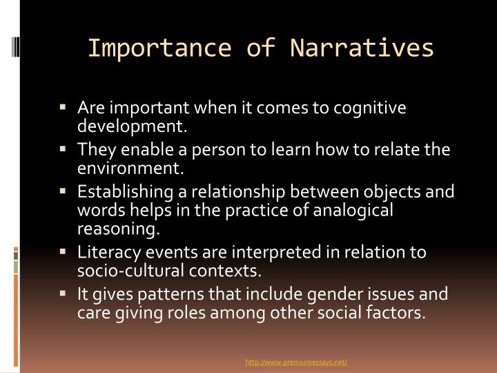 Importance of Narratives