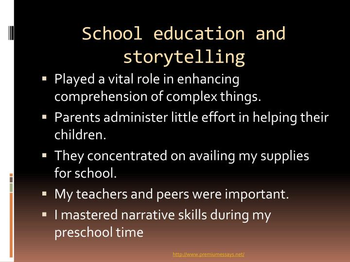 School education and storytelling