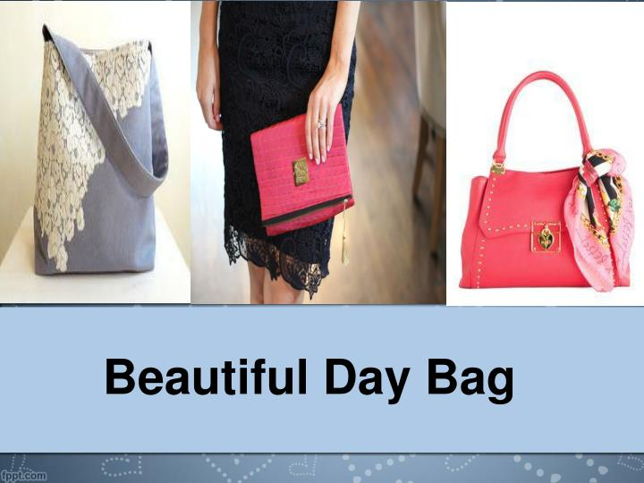 Beautiful day bag