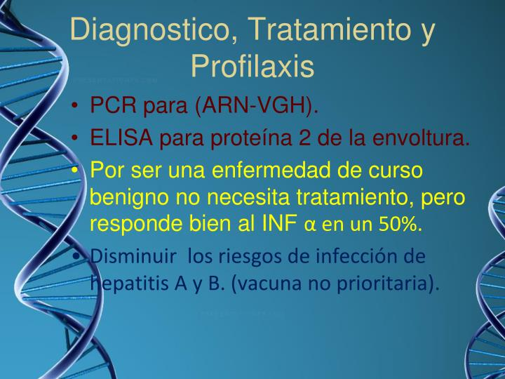 Diagnostico, Tratamiento y Profilaxis