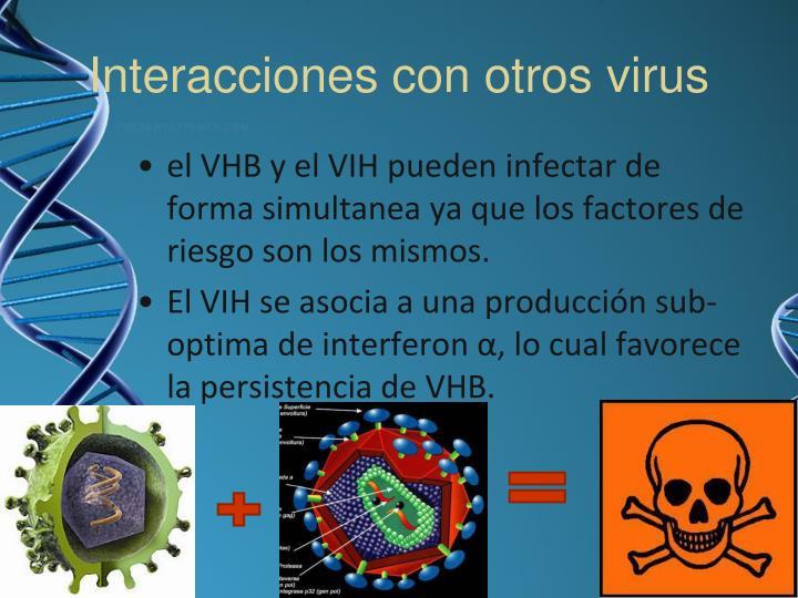 Interacciones con otros virus