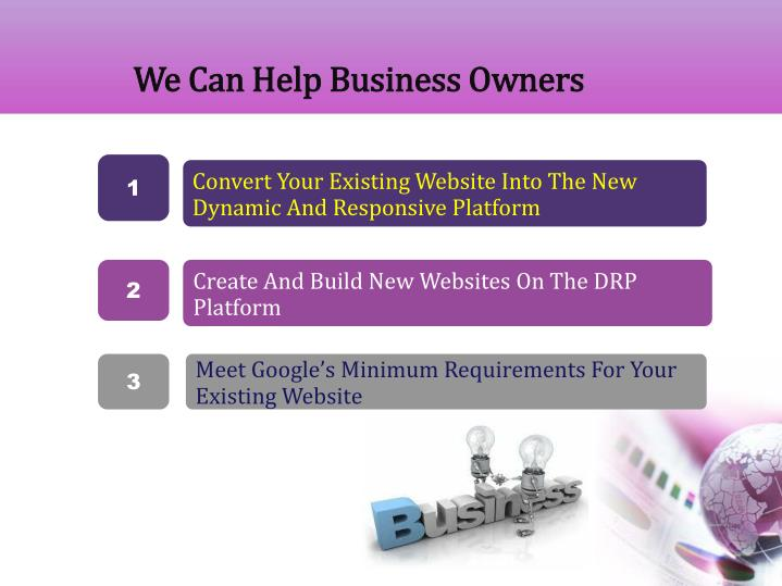 We Can Help Business Owners