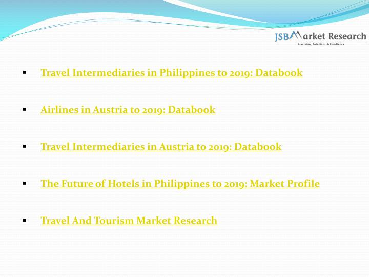 Travel Intermediaries in Philippines to 2019: Databook