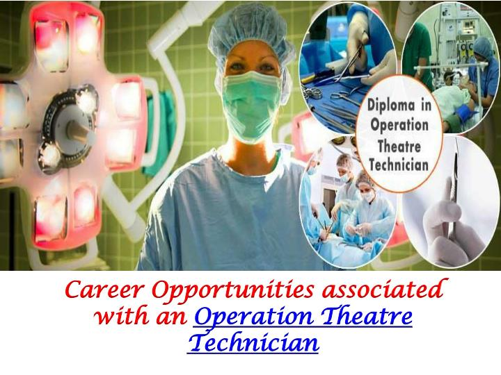 Career Opportunities associated with an