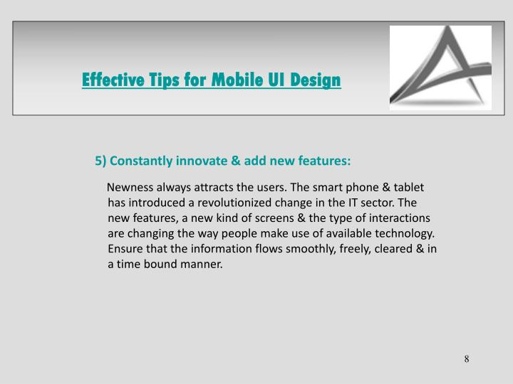 Effective Tips for Mobile UI Design