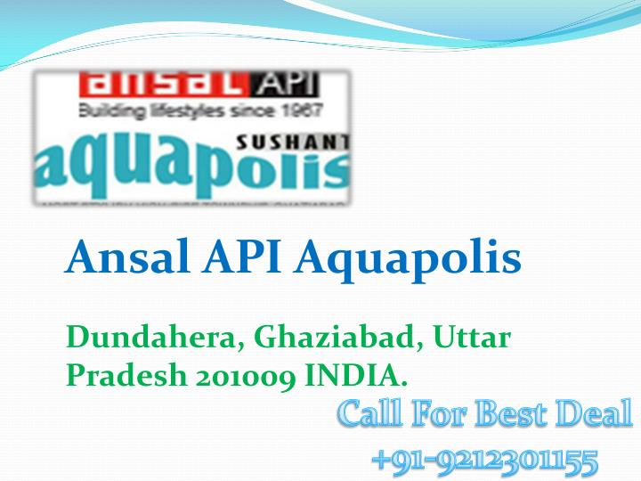 Ansal API Aquapolis