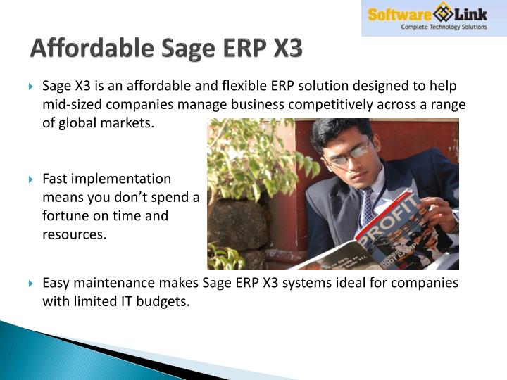 Affordable sage erp x3