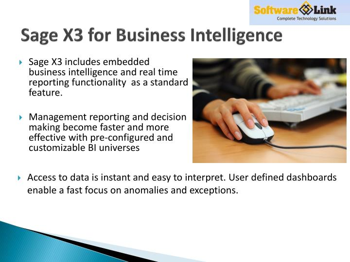 Sage X3 for Business Intelligence