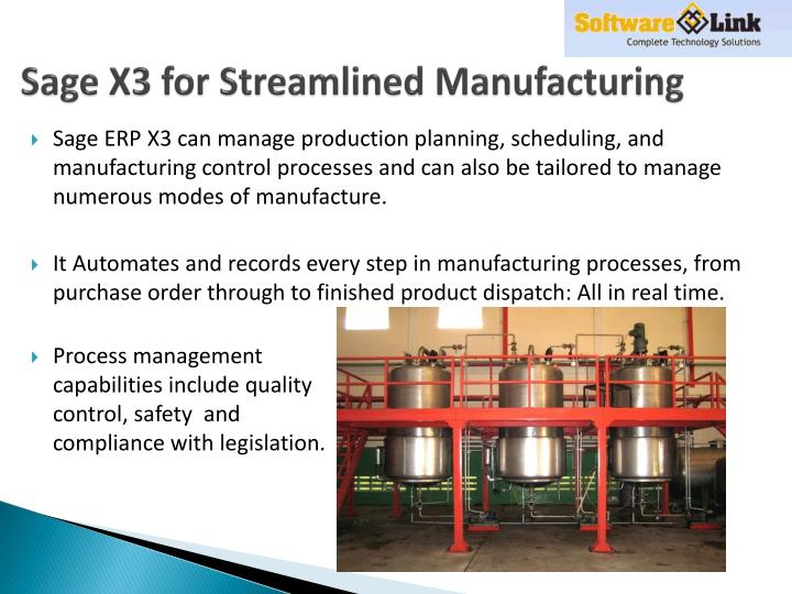 Sage X3 for Streamlined Manufacturing