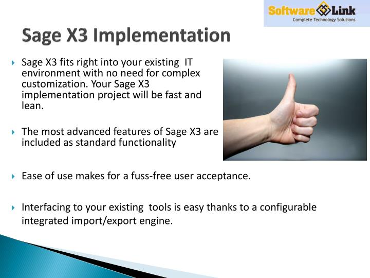Sage X3 Implementation