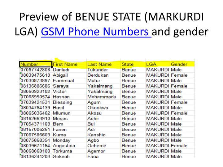 Preview of BENUE STATE (MARKURDI LGA)