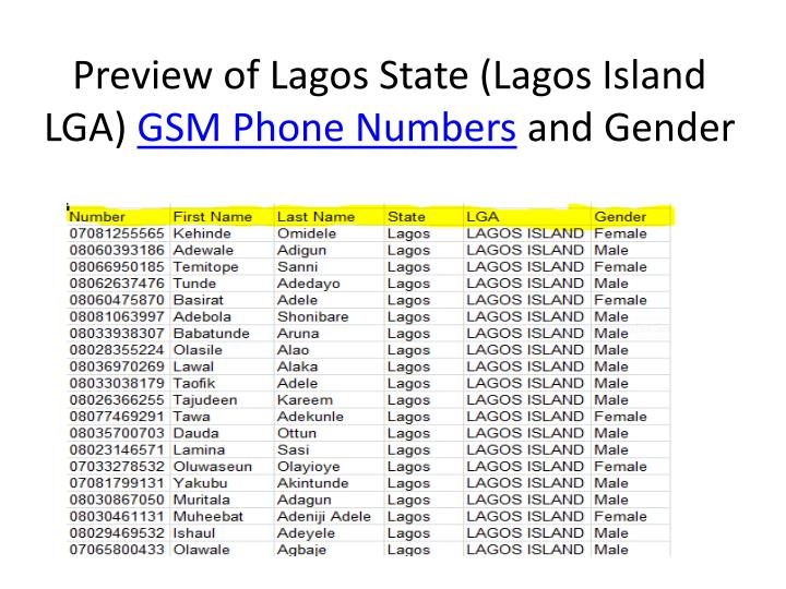 Preview of Lagos State (Lagos Island LGA)
