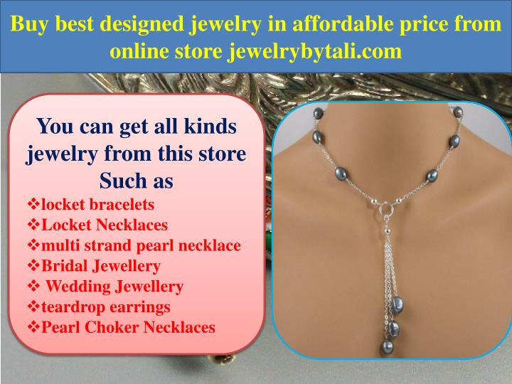 Buy best designed jewelry in affordable price from online store jewelrybytali.com