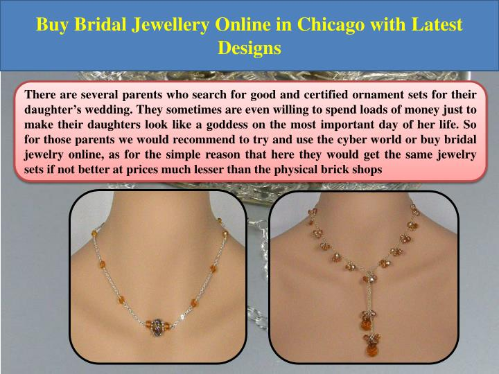 Buy Bridal Jewellery Online in Chicago with Latest Designs