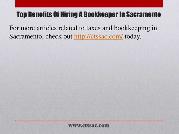 For more articles related to taxes and bookkeeping in Sacramento, check out