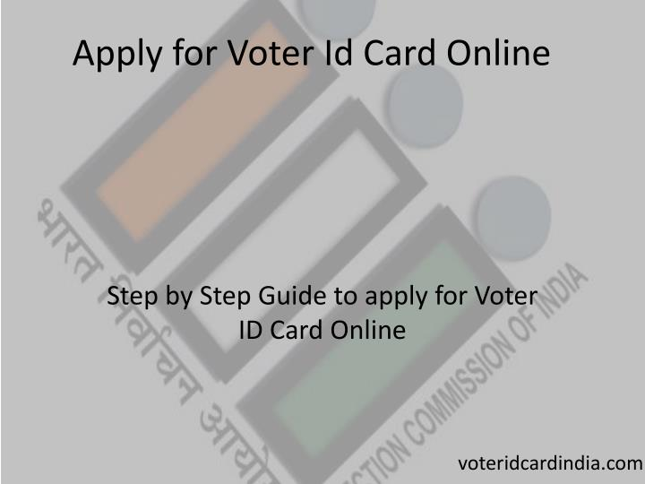 Apply for Voter Id Card Online