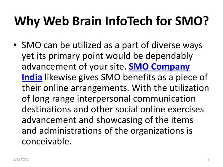 Why Web Brain InfoTech for SMO?