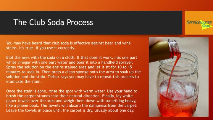 The club soda process