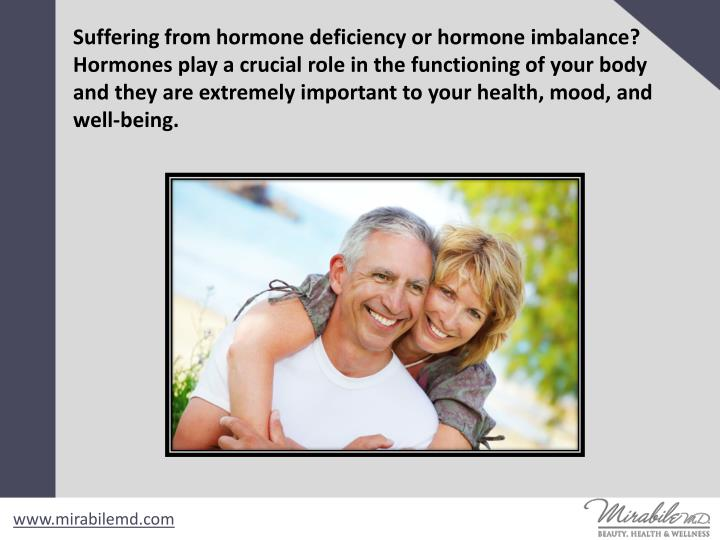 Suffering from hormone deficiency or hormone imbalance? Hormones play a crucial role in the function...