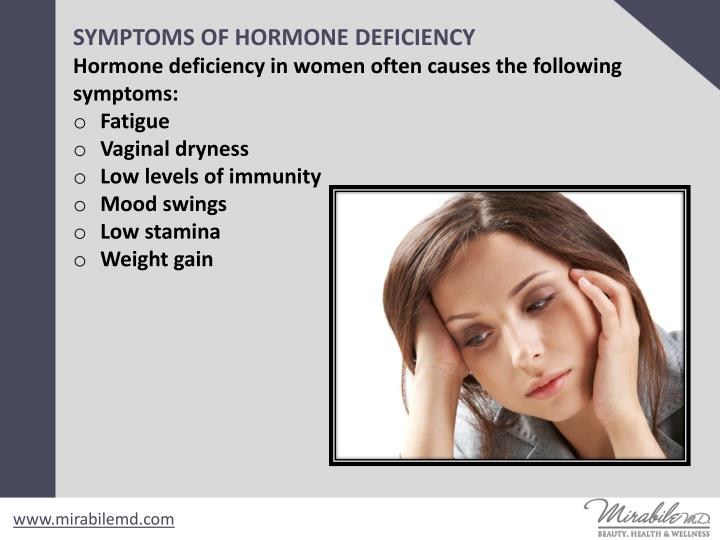 SYMPTOMS OF HORMONE DEFICIENCY