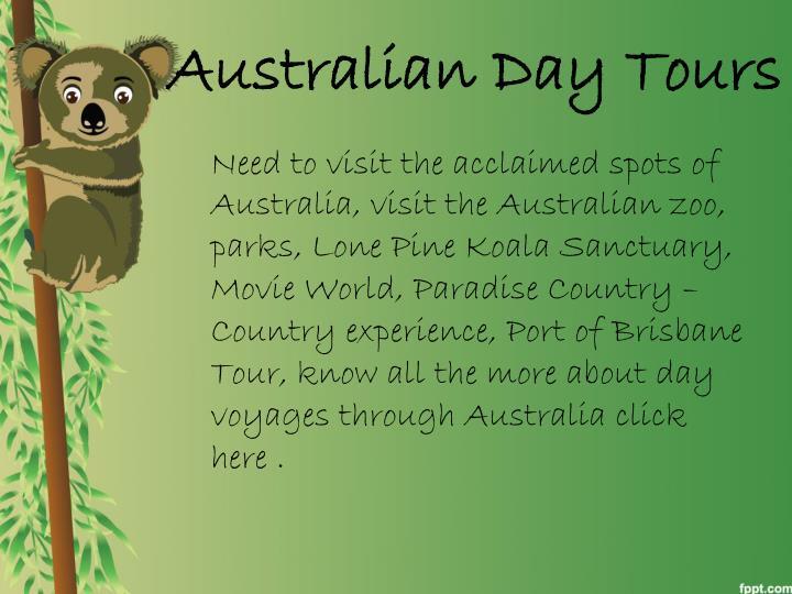 Australian Day Tours