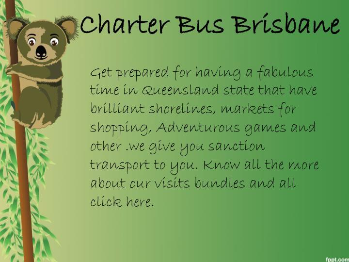 Charter Bus Brisbane