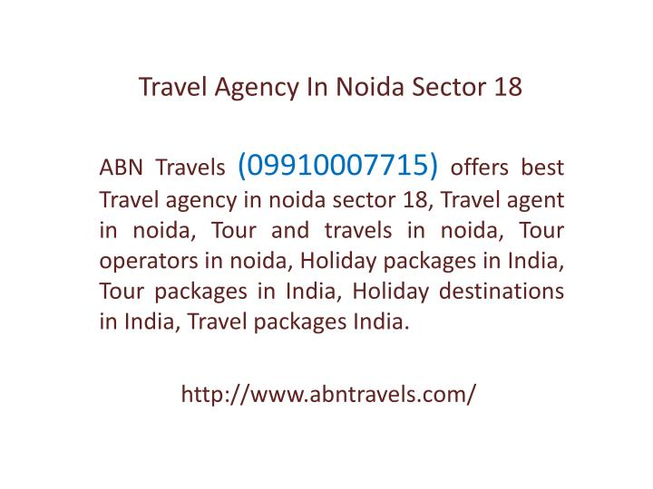 Travel Agency In Noida Sector