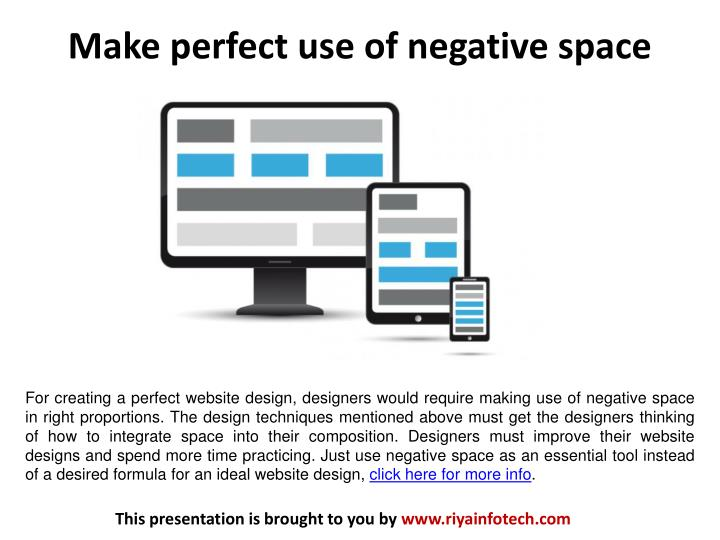 Make perfect use of negative space