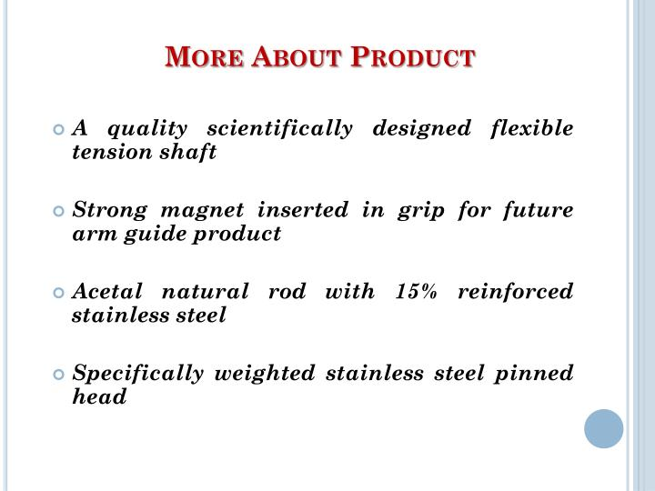 More About Product