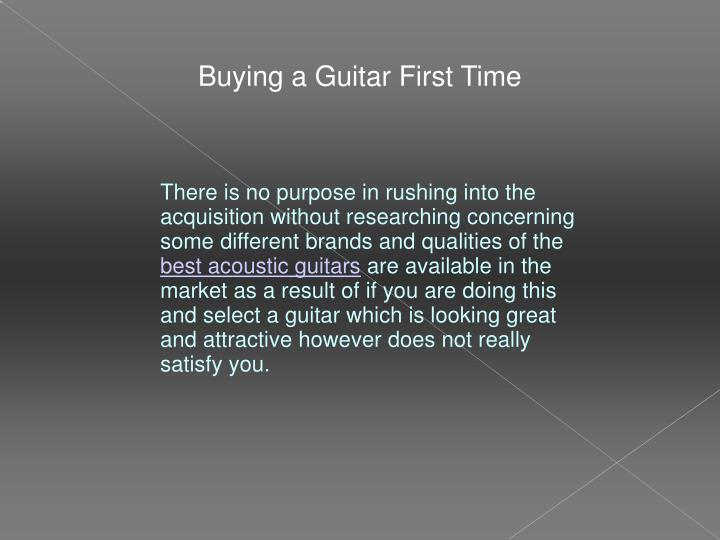 Buying a Guitar First Time