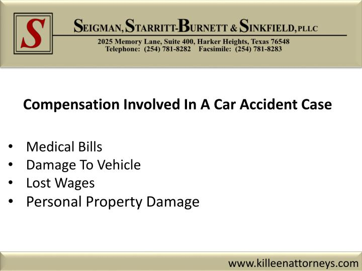 Compensation Involved In A Car Accident Case