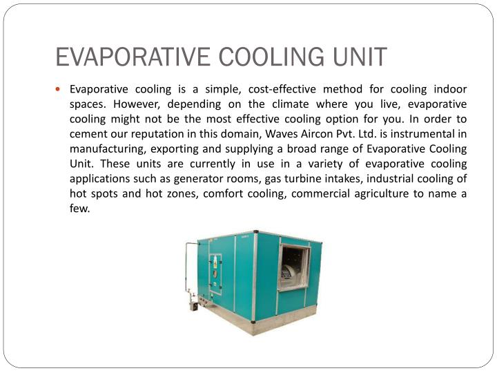 Evaporative cooling unit