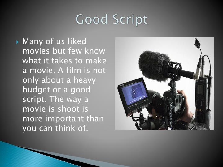 Good Script
