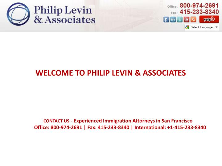WELCOME TO PHILIP LEVIN & ASSOCIATES