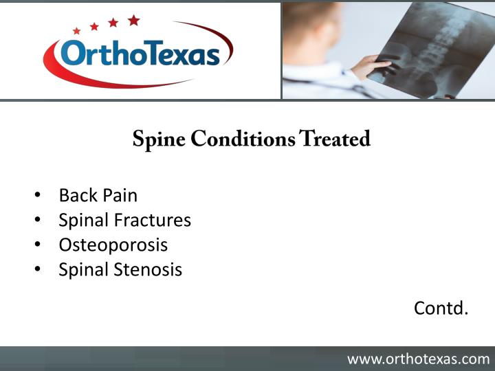 Spine Conditions Treated