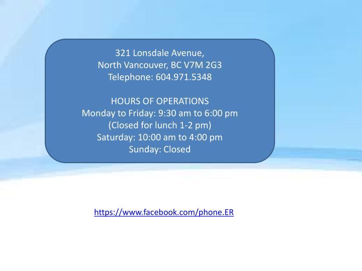 321 Lonsdale Avenue,