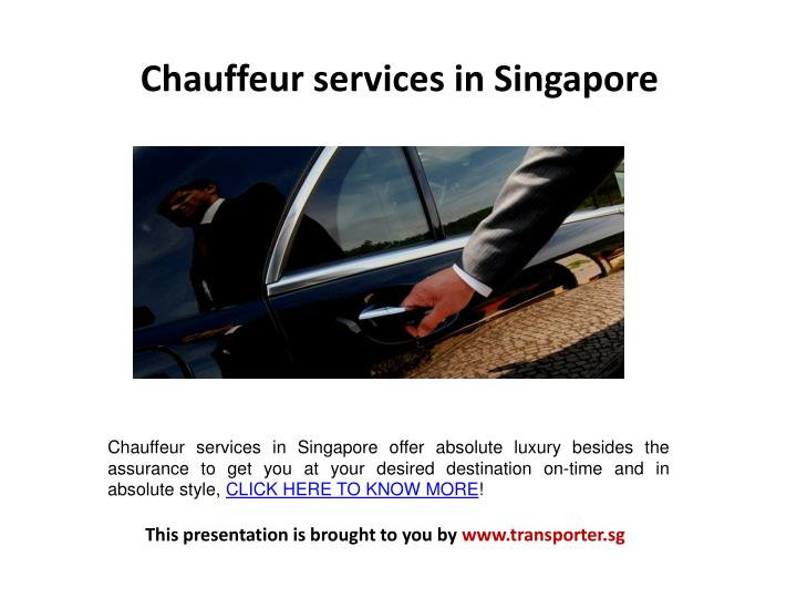 Chauffeur services in Singapore