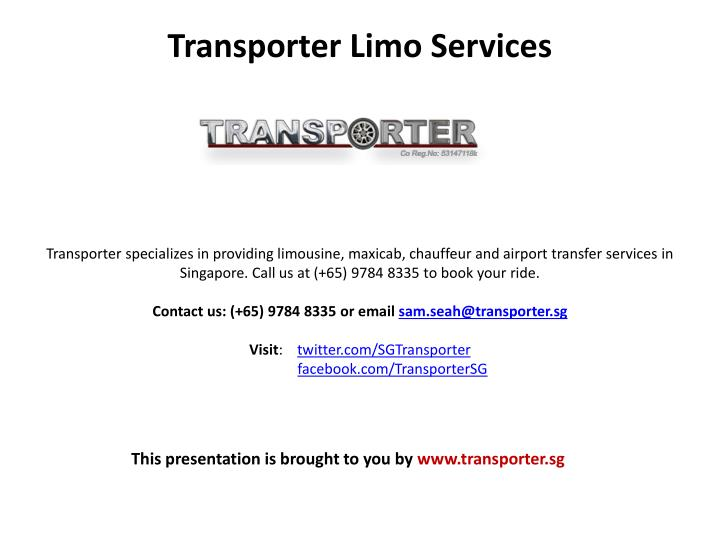 Transporter Limo Services