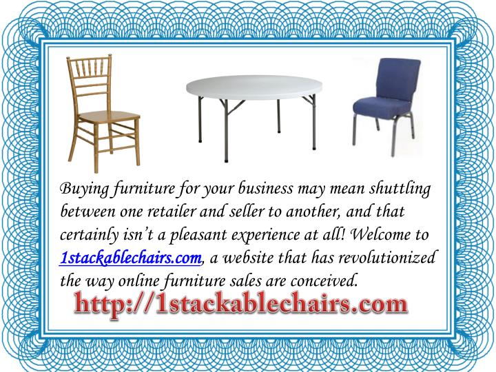 Buying furniture for your business may mean shuttling between one retailer and seller to another, and that certainly isn't a pleasant experience at all! Welcome to