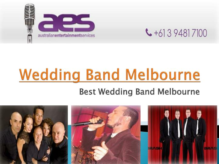 wedding band melbourne