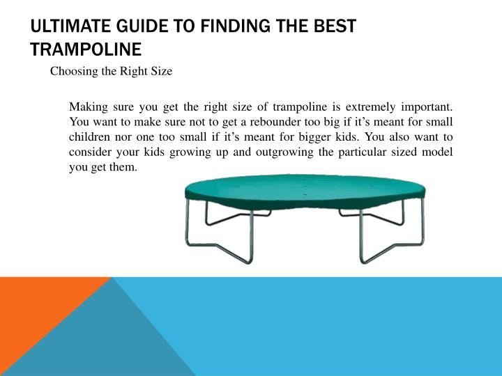 Ultimate guide to finding the best trampoline1