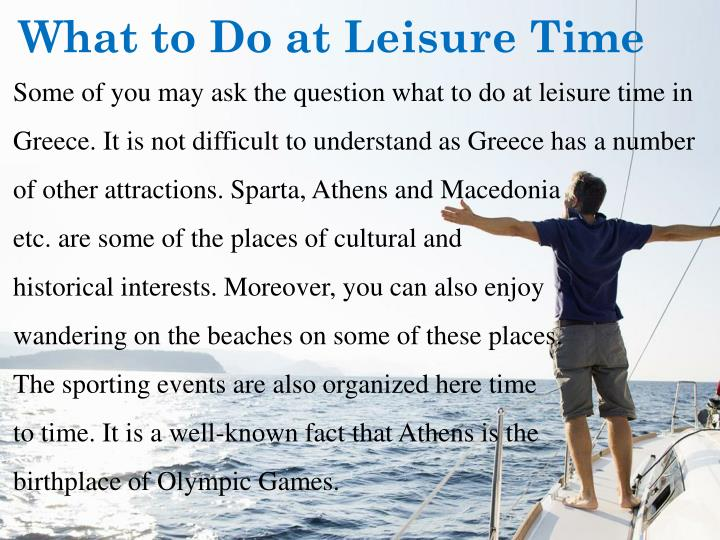 What to Do at Leisure Time