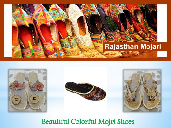 Beautiful Colorful Mojri Shoes