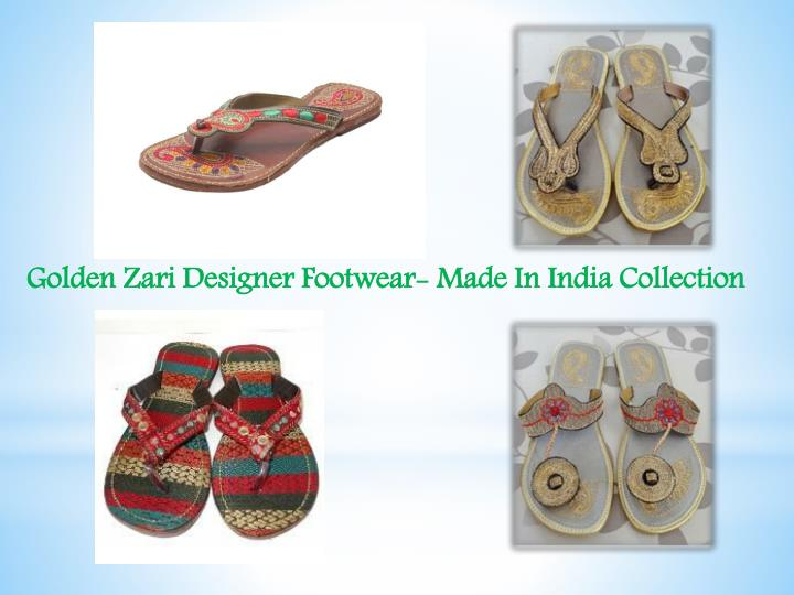 Golden Zari Designer Footwear- Made In India Collection