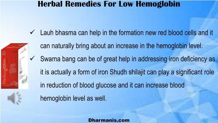 Herbal Remedies For Low Hemoglobin