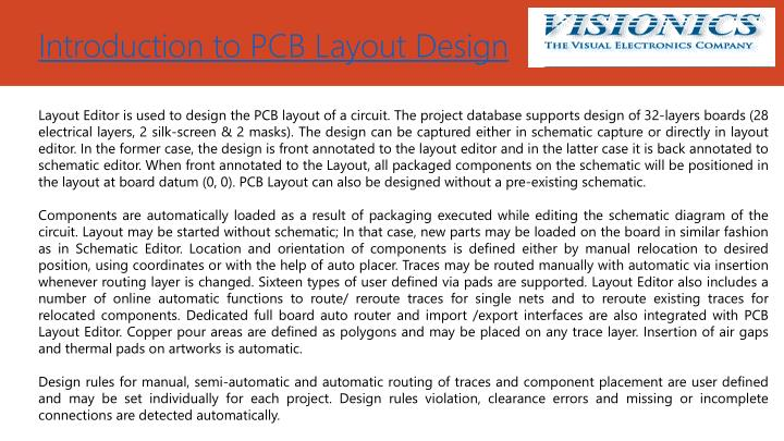 Introduction to PCB Layout Design
