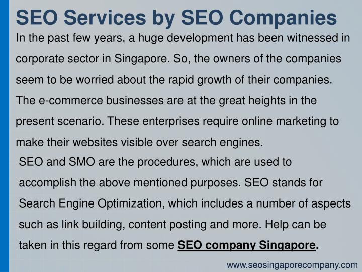 SEO Services by SEO Companies